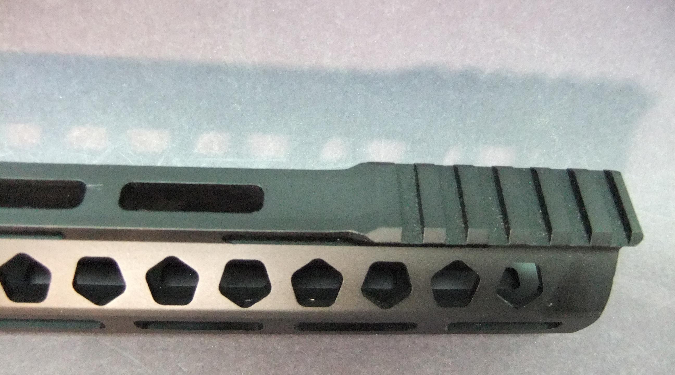 17 Inch Ar15 Ultra Light Slim Split M Lok Skeletal Hex