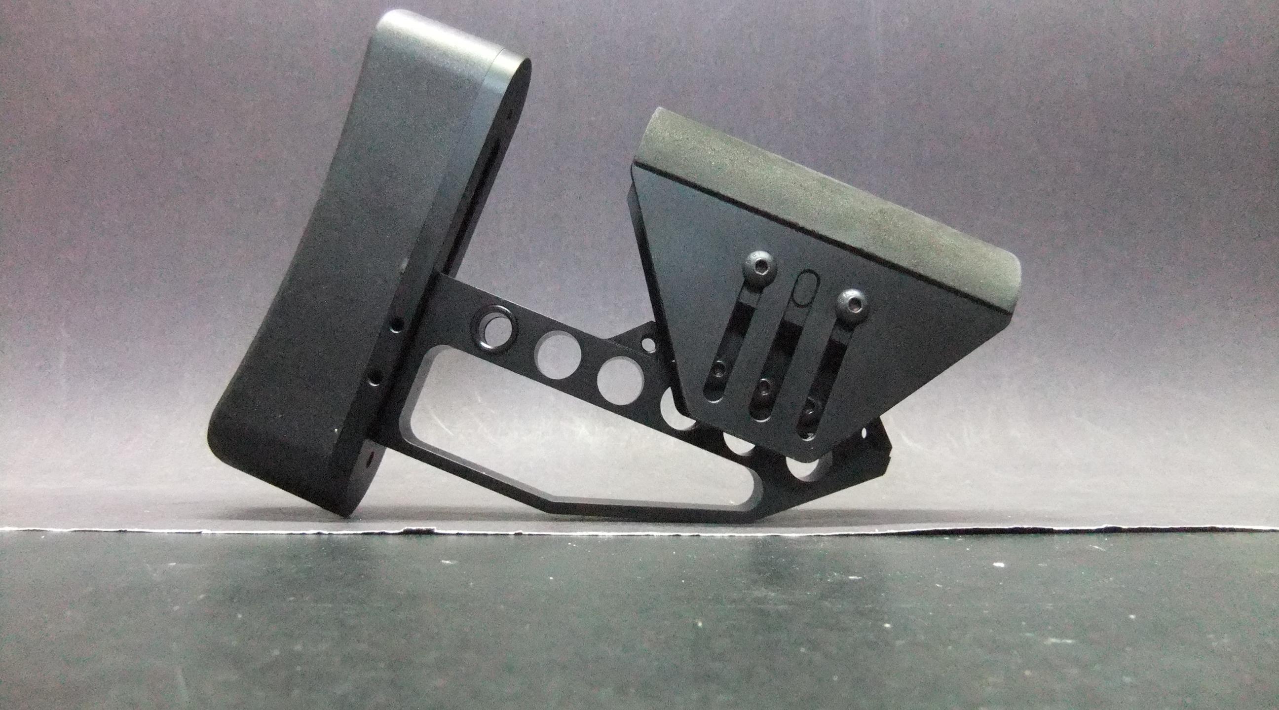 AR15 AR10 Tactical Aluminum Skeleton Minimalist Adjustable Butt Stock Cheek  Rest Buttstock [AB]
