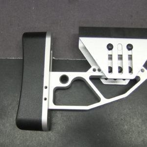 AR15 AR10 Tactical Red Aluminum Skeleton Minimalist Adjustable Butt
