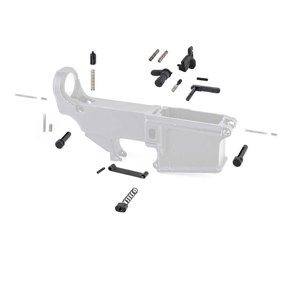 Ar15 Lower Parts Kit Magazine Catch Safety Bolt Catch Buffer Tube Detent Plunger Takedown Pivot Pins Hammer Pins Trigger Guard Total War Tactical